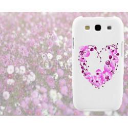 Coque Coeur Fleurs pour Samsung Galaxy Star 2