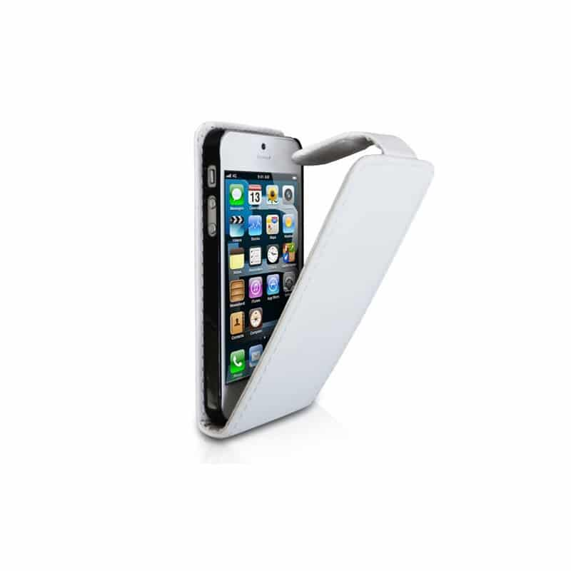 etui rabattable blanc pour iphone 5 et 5s. Black Bedroom Furniture Sets. Home Design Ideas
