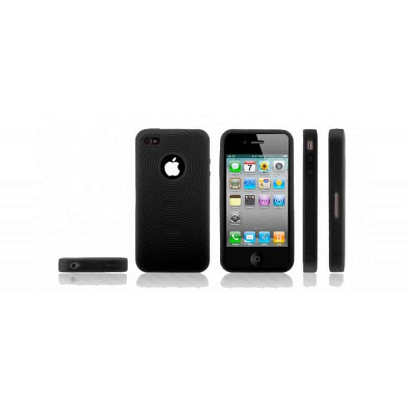 coque spirale noire pour iphone 4. Black Bedroom Furniture Sets. Home Design Ideas