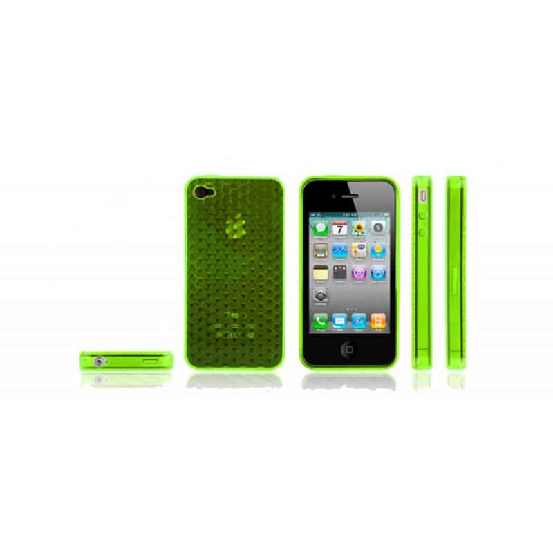coque nid d 39 abeilles de couleur verte pour iphone 4. Black Bedroom Furniture Sets. Home Design Ideas
