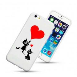 Coque rigide LOVE CAT pour iPhone 6 + (5.5)
