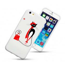 Coque rigide WINTER CAT pour iPhone 6 + (5.5)