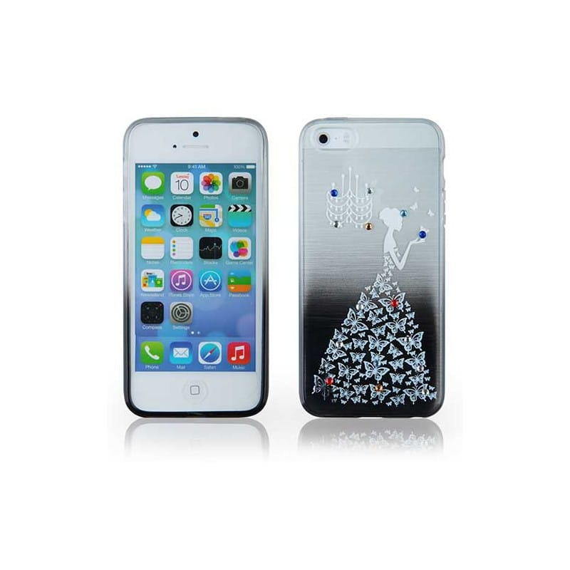 coque semi rigide strass lady pour iphone 4 et 4s. Black Bedroom Furniture Sets. Home Design Ideas