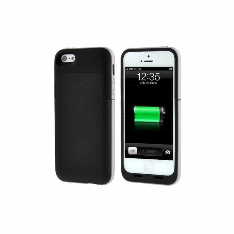 coque batterie 2200mah pour iphone 5 5s 5c 6 et 6. Black Bedroom Furniture Sets. Home Design Ideas