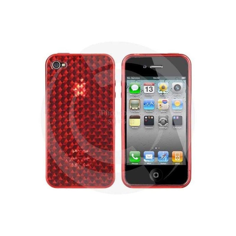 coque nid d 39 abeilles de couleur rouge pour iphone 4. Black Bedroom Furniture Sets. Home Design Ideas
