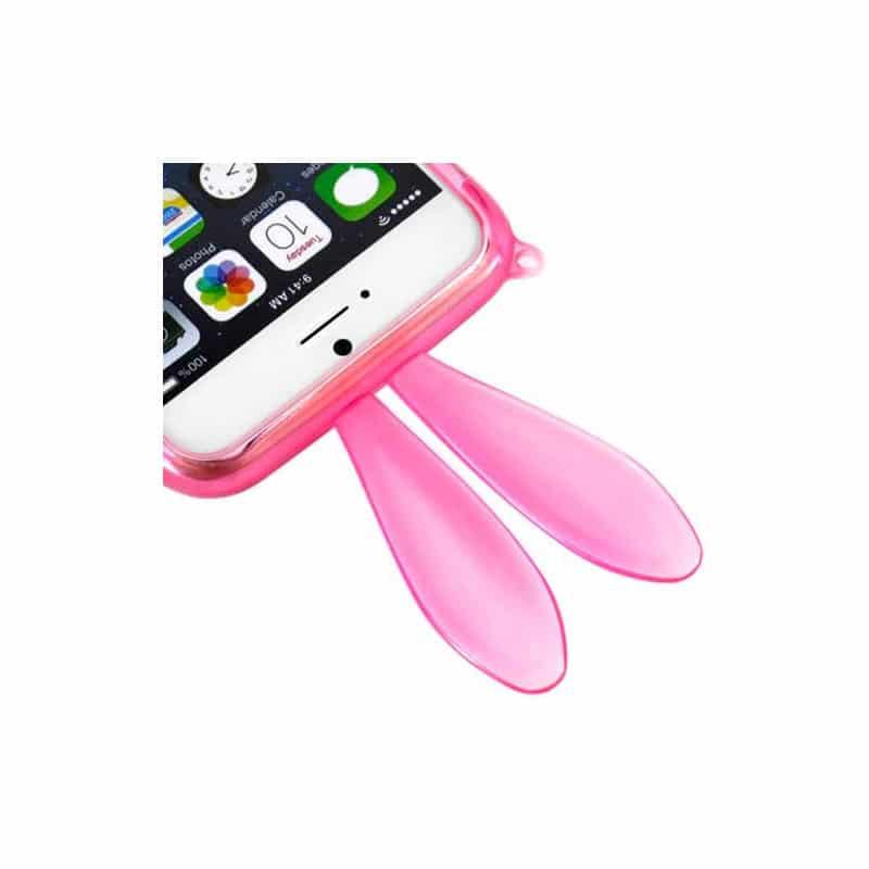 coque souple lapin rose pour iphone 6 4 7. Black Bedroom Furniture Sets. Home Design Ideas