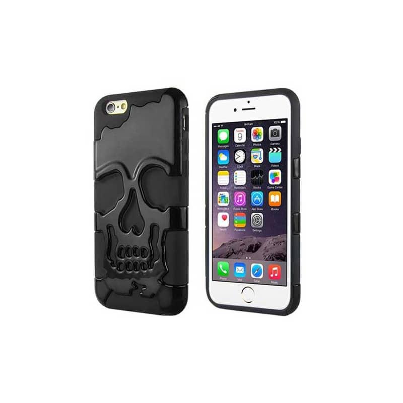coque skull noire pour iphone 6 4 7. Black Bedroom Furniture Sets. Home Design Ideas
