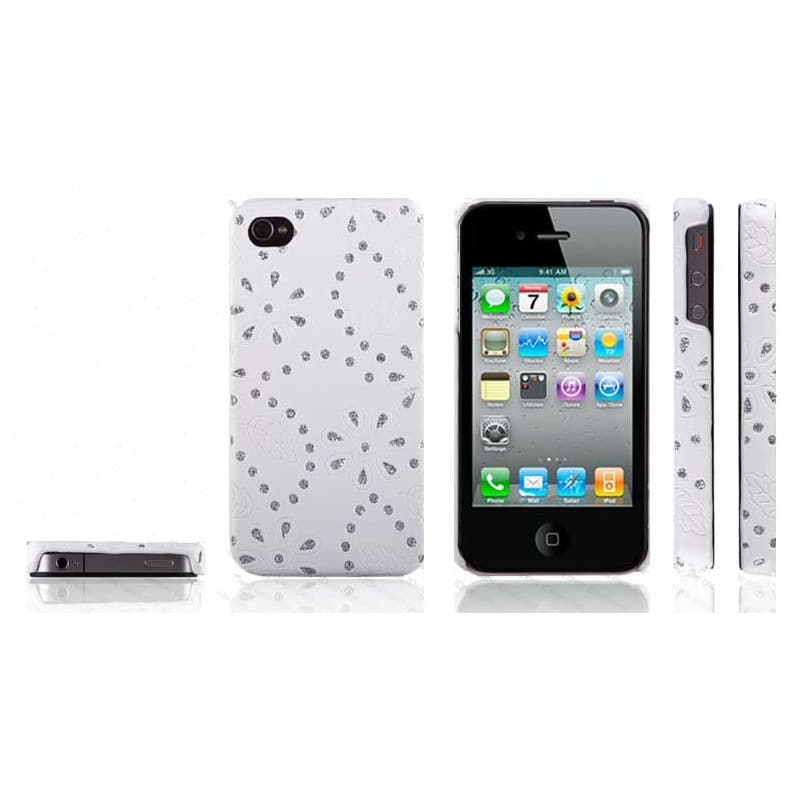 coque strass blanche pour iphone 4 et 4s. Black Bedroom Furniture Sets. Home Design Ideas