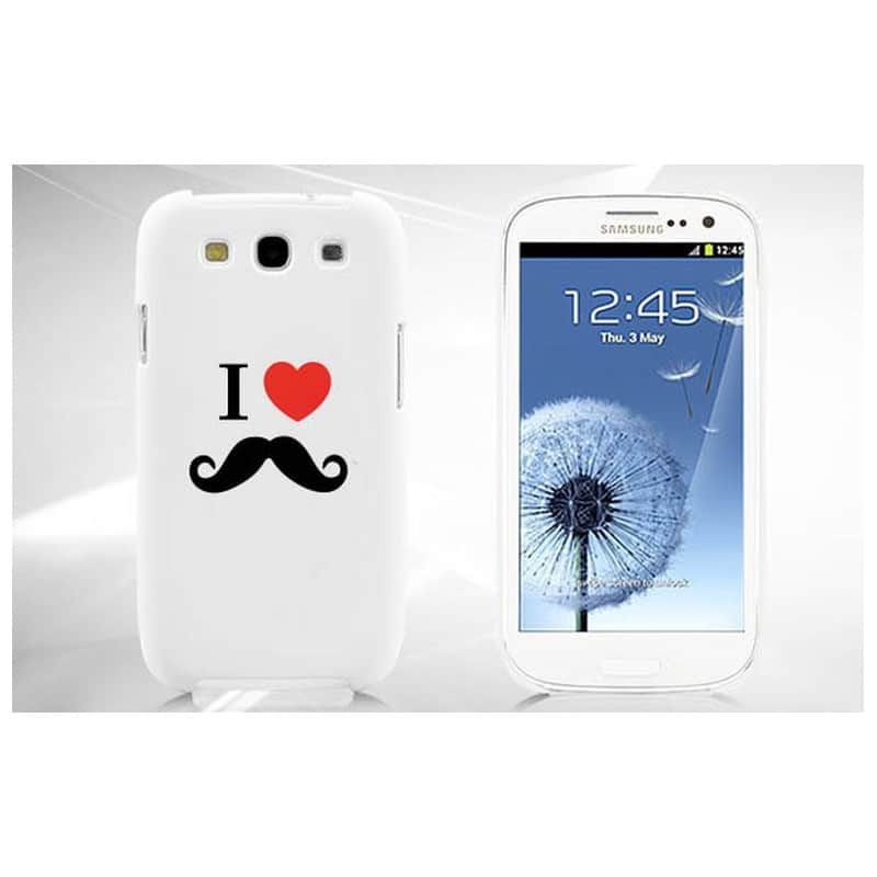 coque moustache pour samsung galaxy ace 4. Black Bedroom Furniture Sets. Home Design Ideas