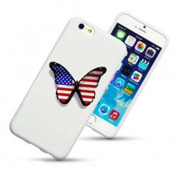 Coque rigide PAPILLON USA pour iPhone 6 + (5.5)