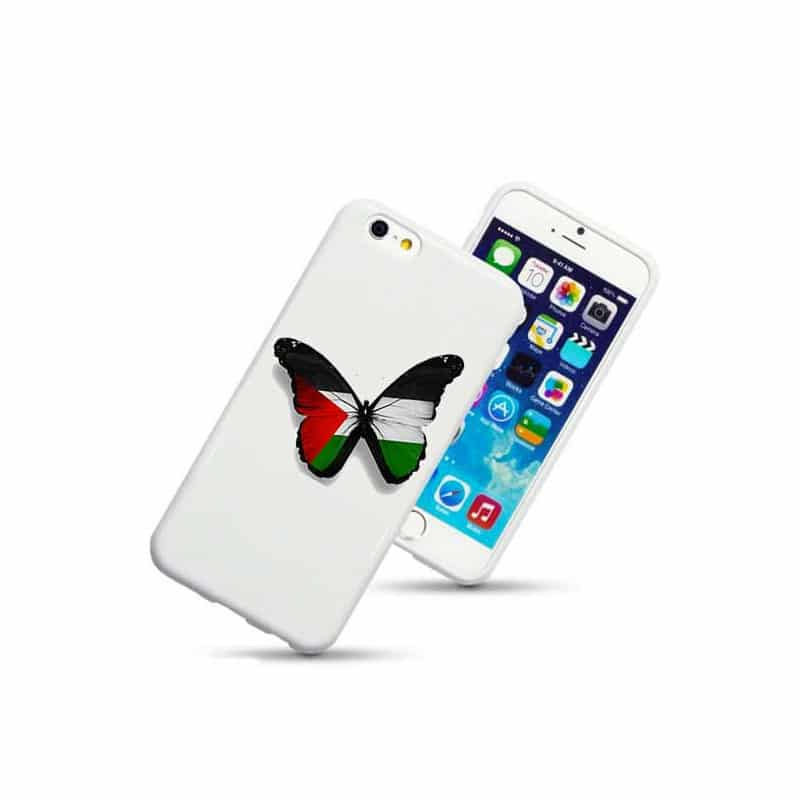 coque rigide papillon palestine pour iphone 6. Black Bedroom Furniture Sets. Home Design Ideas
