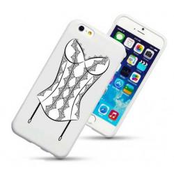 Coque rigide CORSET NOIR pour iPhone 6 + (5.5)