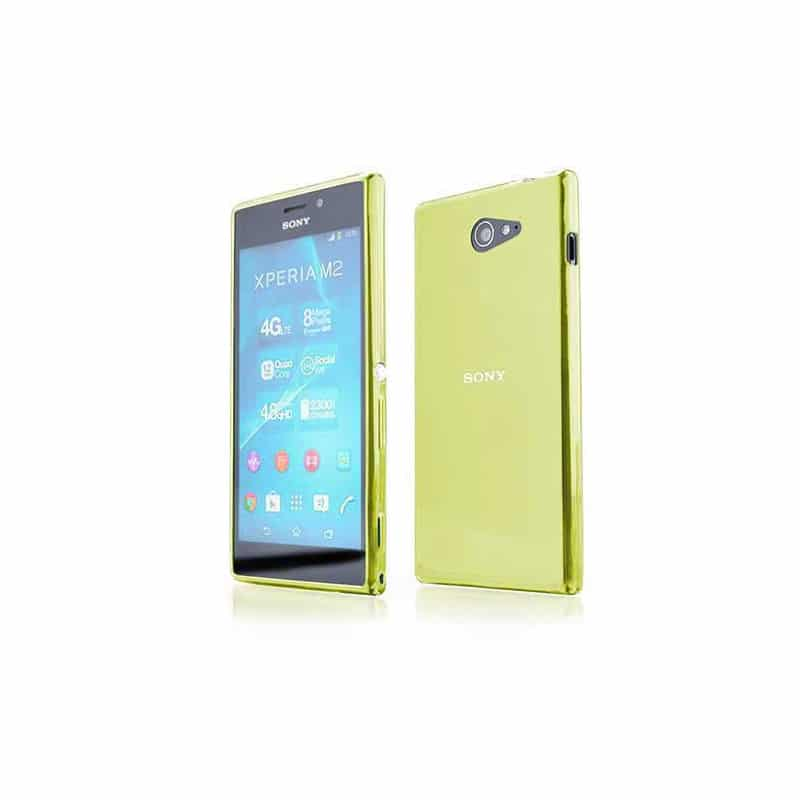 coque crystal jaune pour sony xperia m2. Black Bedroom Furniture Sets. Home Design Ideas