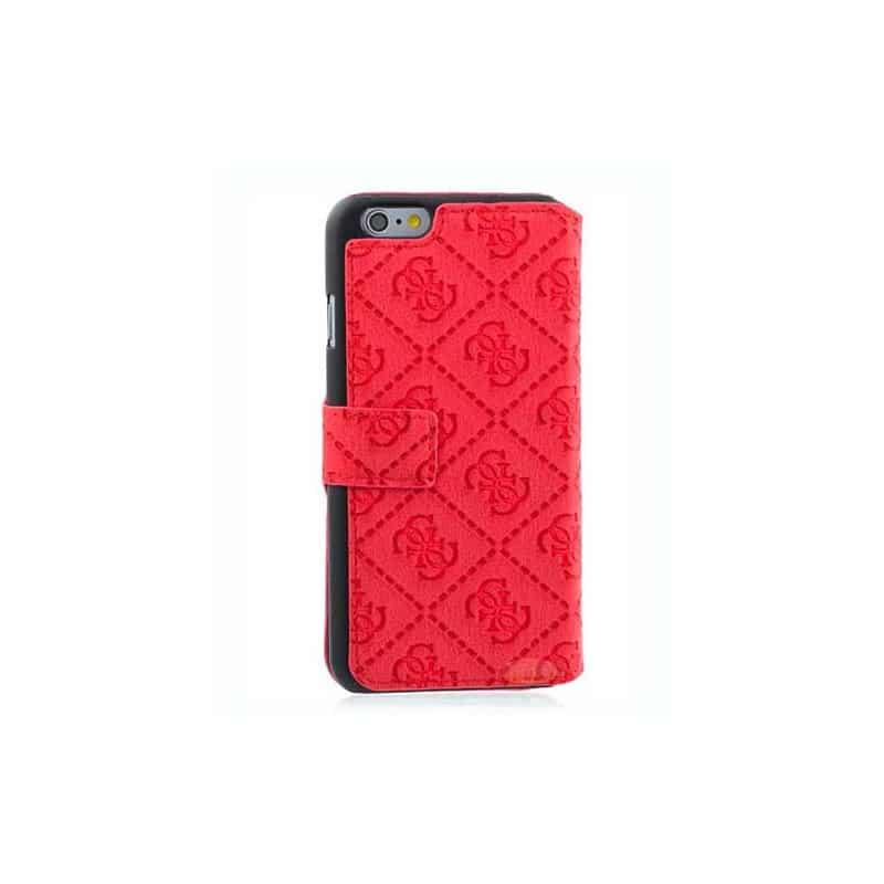 etui rabattable originale rouge guess pour iphone 6. Black Bedroom Furniture Sets. Home Design Ideas