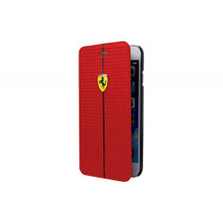 Etui folio carbone originale rouge FERRARI pour iPhone 6