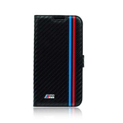 Etui folio carbone originale noir BMW pour iPhone 6