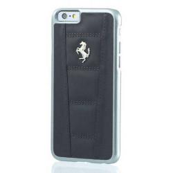 Coque cuir originale noire FERRARI pour iPhone 6