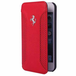 Etui cuir originale rouge FERRARI F12 pour iPhone 6
