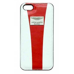 Coque cuir originale blanche et rouge ASTON MARTIN pour iPhone 5 et 5S
