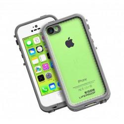 coque originale lifeproof fr blanc anti chocs waterproof et resistante pour iphone 5c