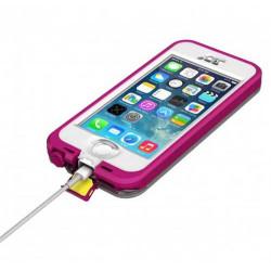 Coque originale LIFEPROOF nüüd rose anti chocs , waterproof et résistante pour iPhone 5 et 5S