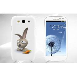 Coque Rigide LAPIN CRETIN pour Samsung Galaxy GRAND PRIME