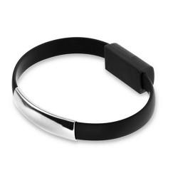 Câble BRACELET noir USB LIGHTNING pour Iphone 5, 5c et 5S, 6, 6+, Ipad, iPad mini, iPad air, Ipod touch 5 et nano 7.