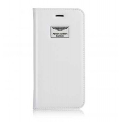 Etui cuir original portefeuille blanc ASTON MARTIN pour iPhone 6 et iPhone 6S