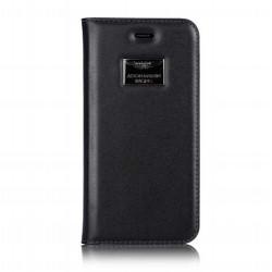 Etui cuir original portefeuille blanc ASTON MARTIN pour iPhone 6