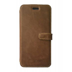 Etui portefeuille originale STARCLIPPERS en cuir marron pour iPhone 6