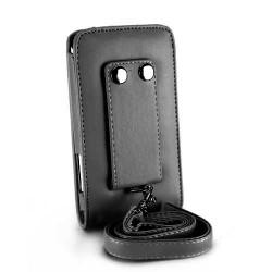 Etui cuir noir avec attache ceinture pour IPOD TOUCH 2 et 3