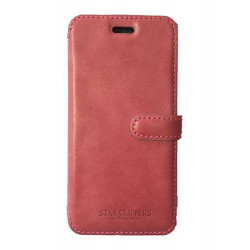 Etui portefeuille originale STARCLIPPERS en cuir rose pour iPhone 6