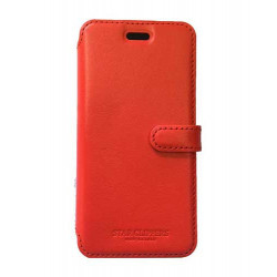 Etui portefeuille original STARCLIPPERS en cuir rouge pour iPhone 6