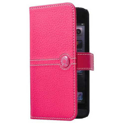 Etui cuir original rose FACONNABLE iPhone 5, 5S et SE