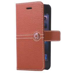 Etui cuir original marron FACONNABLE pour iPhone 5 et 5S