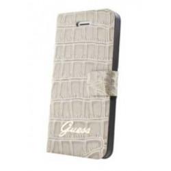 Etui Folio Guess beige effet croco iPhone 5C
