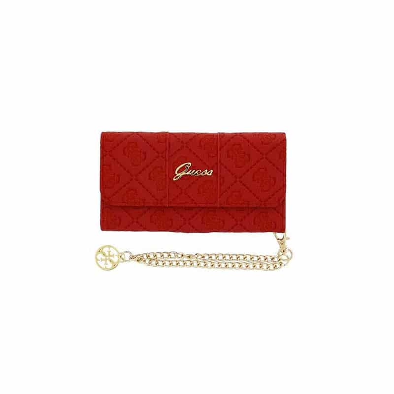 Housse etui portefeuille rouge collection scarlet iphone 6 for Housse portefeuille iphone 6