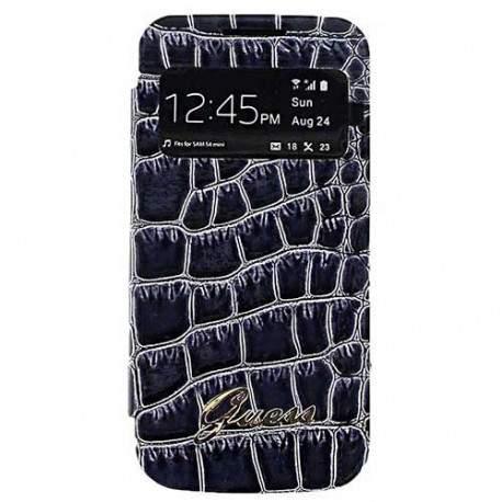 edef17580b Housse Etui Folio GUESS croco noir Galaxy S4 mini