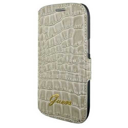 Etui Folio GUESS beige croco Galaxy Ace 4