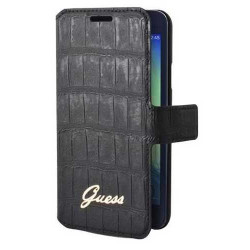 Housse Etui Folio Croco Noir Guess Samsung Galaxy A3