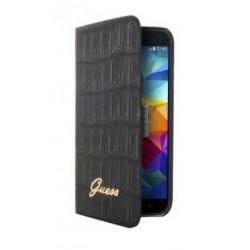 Housse Etui Folio Noir croco GUESS Galaxy S5 mini