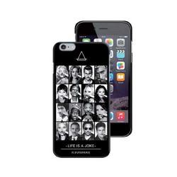 Eleven Paris Coque All Faces Noire Toucher Gomme Pour iPhone 6