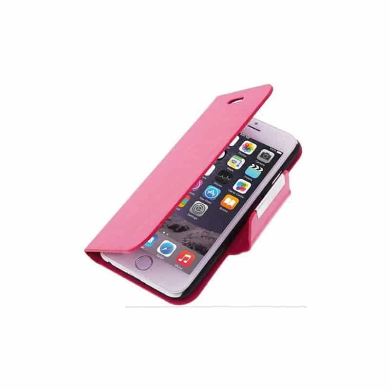 Housse etui cuir folio rose iphone 6 for Housse iphone 6