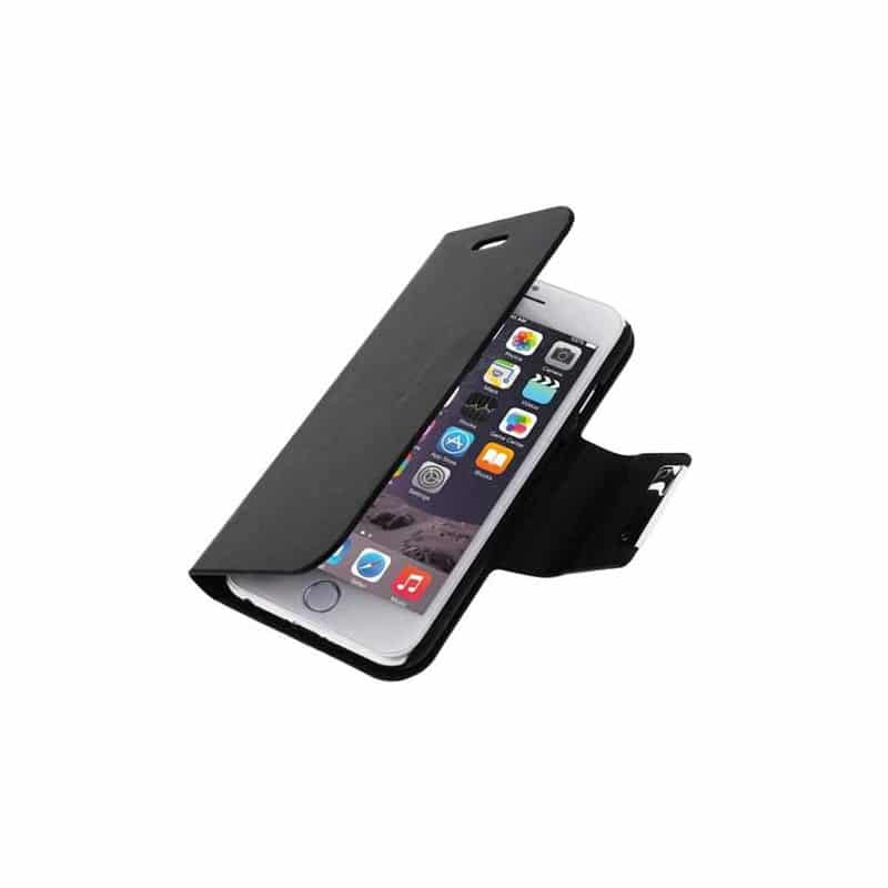 Housse etui cuir folio noir iphone 6 for Iphone housse cuir