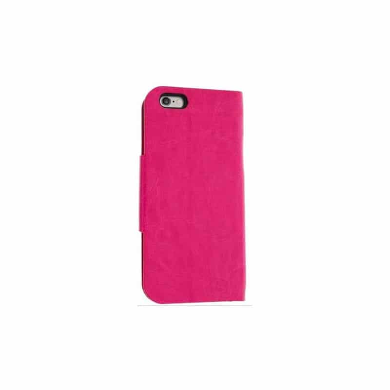 Housse etui cuir folio rose iphone 6 plus for Housse cuir iphone 6
