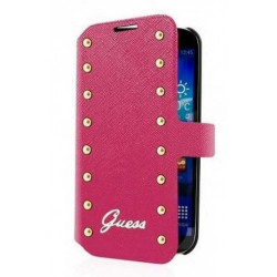 Etui Folio cuir Rose GUESS Studded Collection samsung Galaxy S5