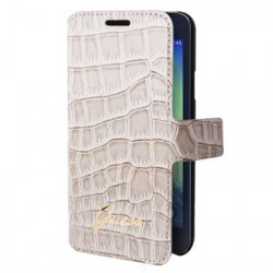 Housse Etui Folio Croco beige Guess Samsung Galaxy A3
