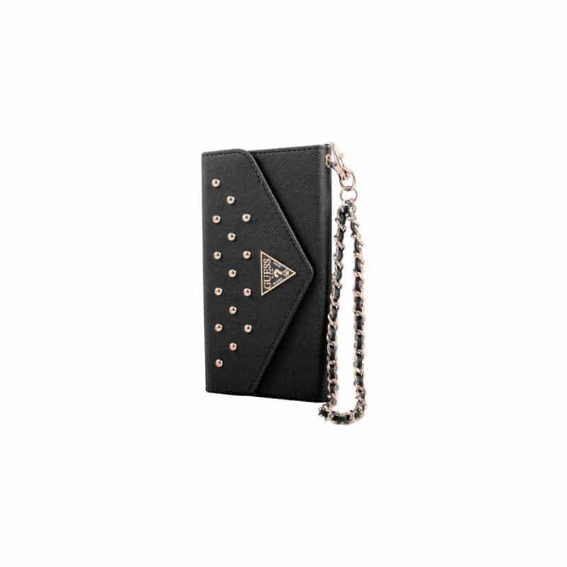 Housse etui portefeuille noire guess iphone 6 for Housse iphone 6 guess