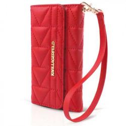 Etui Folio Matelassé rouge Porte Cartes Karl Lagerfeld IPhone 5/5S