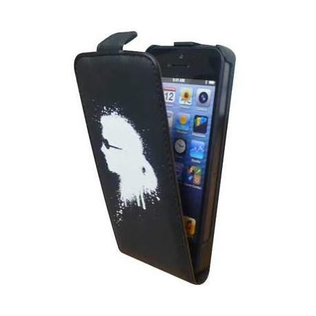 Etui Rabat Cuir noir Licence Karl Lagerfeld pour I-Phone 5/ 5S